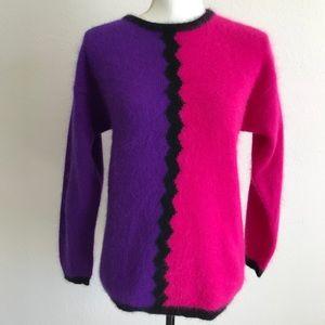 Vintage Rafaella Angora Lambswool 80s Sweater S/M
